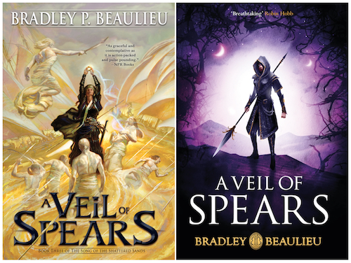 A Veil of Spears UK US Covers